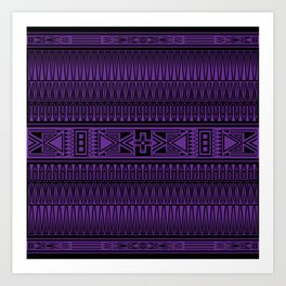 The Gathering (Purple) Art Print