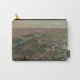 Vintage Pictorial Map of Philadelphia PA (1876) Carry-All Pouch