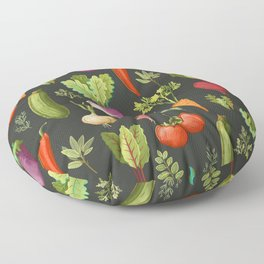 Garden Veggies Floor Pillow