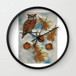 Fall In Wall Clock