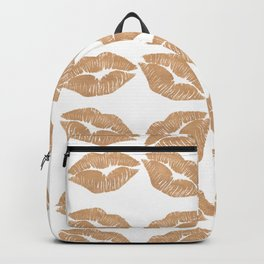 Rose Gold Lips Heart with Lips Backpack
