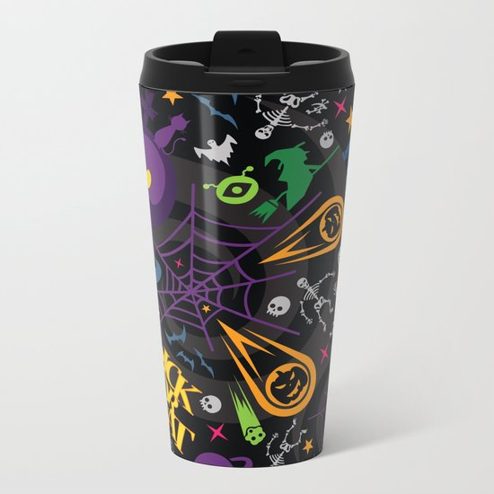 Space is the Place for Halloween Metal Travel Mug