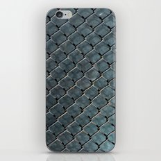Wire and glass background texture pattern close detail iPhone & iPod Skin