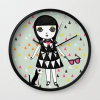 eames Wall Clocks featuring She loves her eames.  by Butterpop Shop