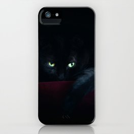 Black Cat In The Night iPhone Case