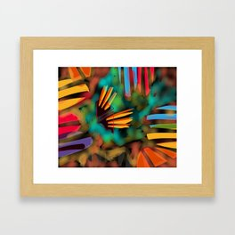 Fish In A Pond Framed Art Print