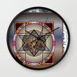 *Caged Star* Wall Clock