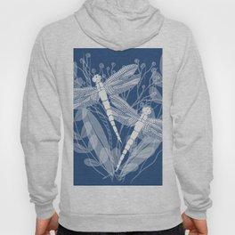 Dragonflies in White Field Hoody