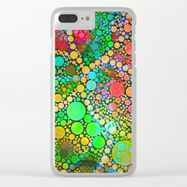Colorful Bubble Pattern Abstract Clear iPhone Case