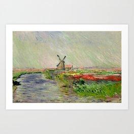 "Claude Monet ""Tulip field in Holland (Champ de tulipes en Hollande)"" Art Print"