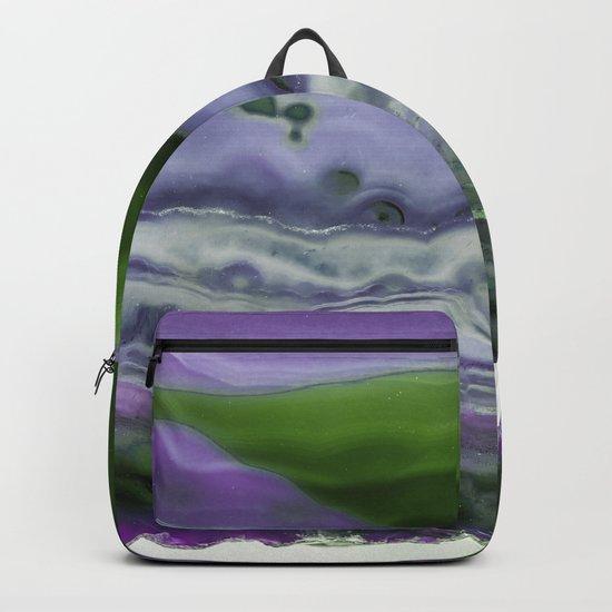 Purple and Green Agate Backpack