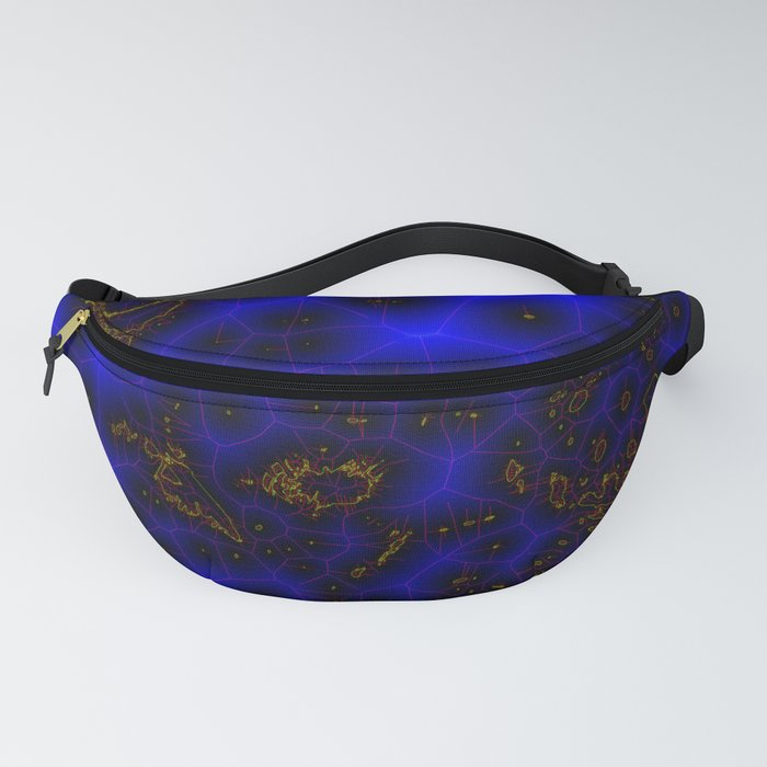 Blue Lightning Abstract Fanny Pack