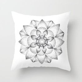 Dotts Mandala Throw Pillow