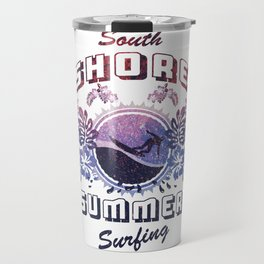 South Shore Summer Surfing Travel Mug