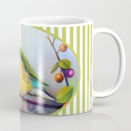 Gouldian finch realistic painting Coffee Mug