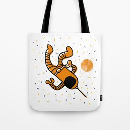 cosmonaut in space Tote Bag
