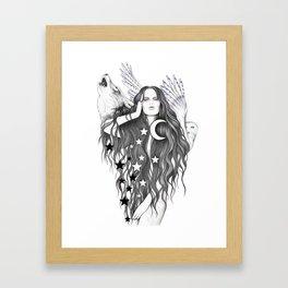 Moon Witch Framed Art Print