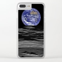 Earth from the moon Clear iPhone Case