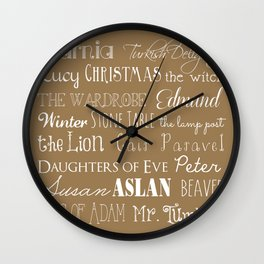 Narnia Celebration - Tortilla Wall Clock