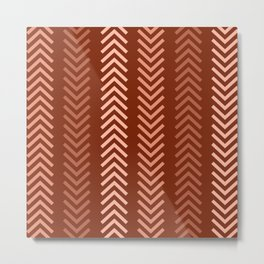 Rustic Ethnic Arrow Pattern  Metal Print