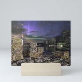 Lobster Trap Aurora Mini Art Print