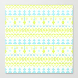 3 Knitted Christmas pattern in retro style pattern Canvas Print