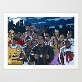 Rap warriors Art Print