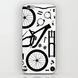 Downhill Bike Parts iPhone Skin