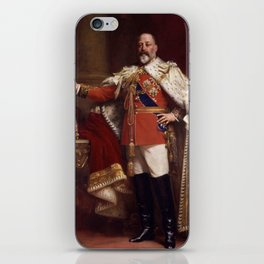 King Edward VII in coronation robes iPhone Skin