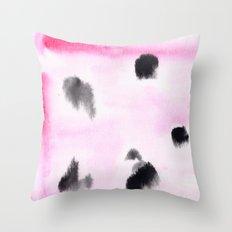 Black & Pink Throw Pillow