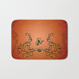 Decorative design, butterflies Bath Mat