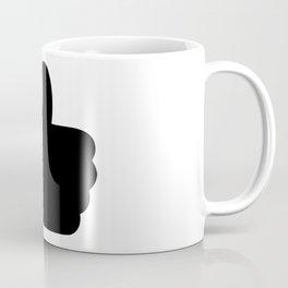 Like Button Silhouette Coffee Mug
