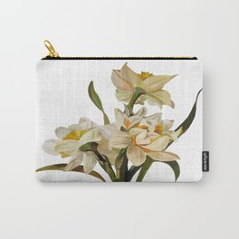 Double Narcissi Bouquet Vector Carry-All Pouch