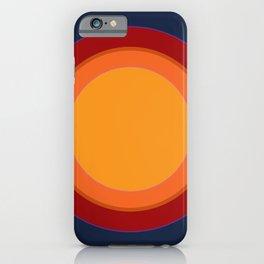 70s retro chic sunspots in dark ink iPhone Case