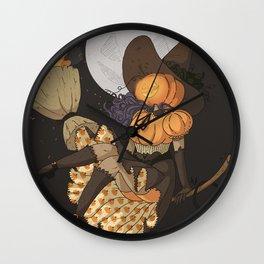 Pumpkin Witch Wall Clock