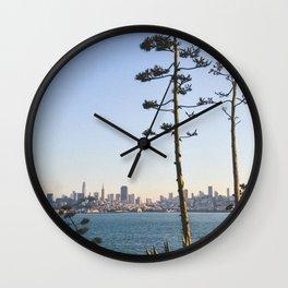Cartoon Trees Wall Clock