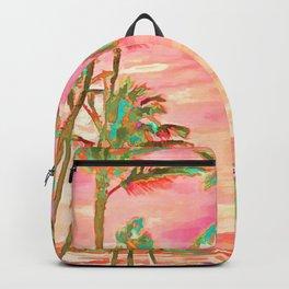 Beach at Mauna Lani Bay, Hawaii Peach Backpack