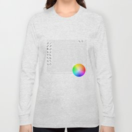 Art Interface - Hand Drawn with grid Long Sleeve T-shirt