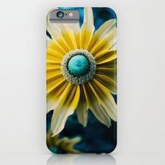 Yellow blue flower iPhone 6s Slim Case