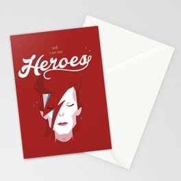 bowie forever red Stationery Cards
