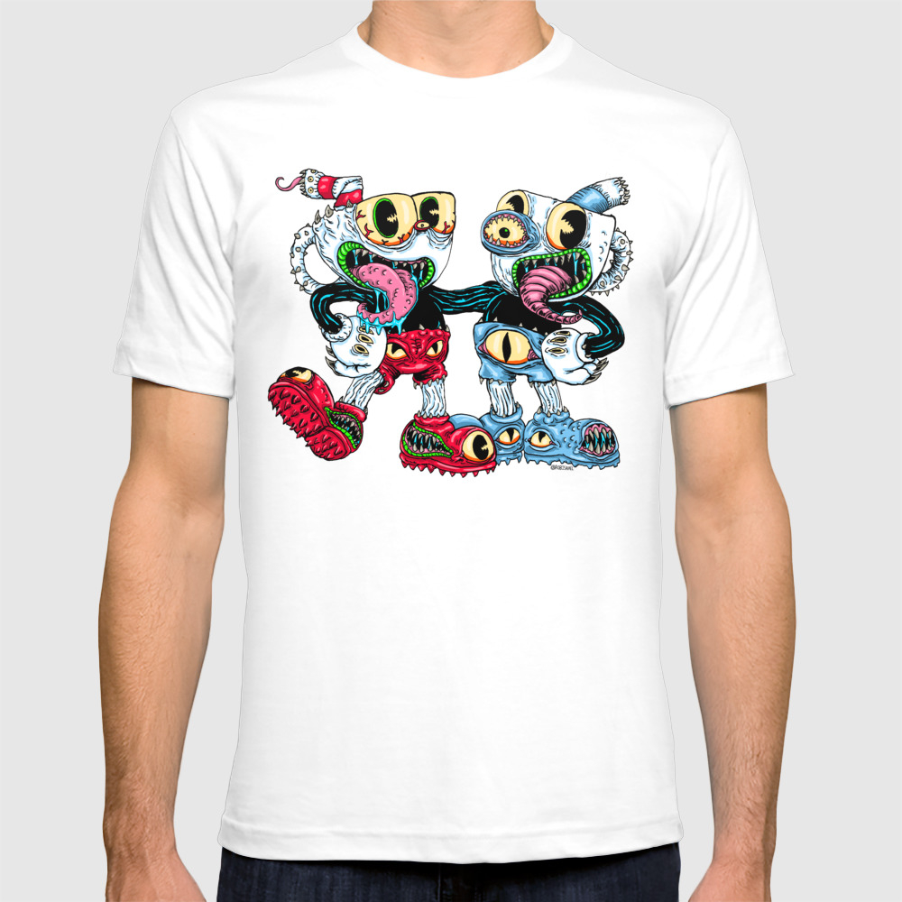Monster Cups T-shirt by Robisrael TSR8436053