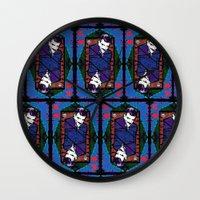 selena gomez Wall Clocks featuring Gomez. The King Of Hearts. by brett66