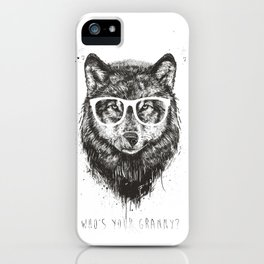 Who's your granny? (b&w) iPhone Case