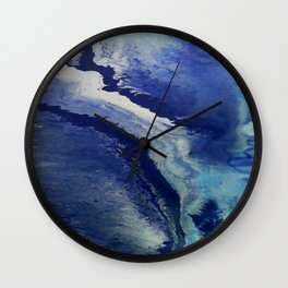 Wake - Abstract Painting by David Munroe Wall Clock