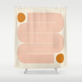 Abstraction_SUN_LINE_ART_Minimalism_002 Shower Curtain