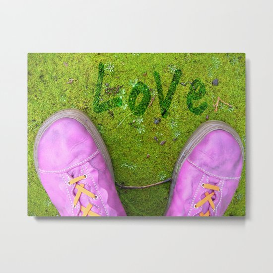 Vegetal Garden and Pink Shoes Metal Print