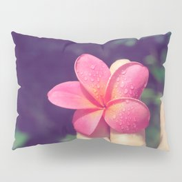 pua melia pink tropical plumeria hawaii Pillow Sham