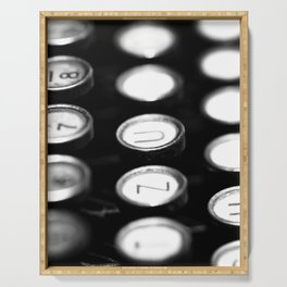 TYPEWRITER KEYS Serving Tray