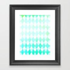 Spring Triangles Framed Art Print
