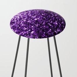 Beautiful Dark Purple glitter sparkles Counter Stool